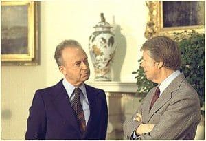 ראש הממשלה רבין עם נשיא ארצות הבריתג'ימי קרטר